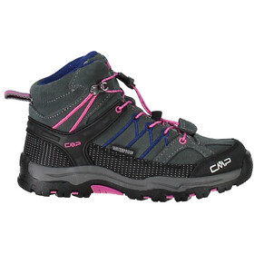 CMP Campagnolo Kids Rigel Mid WP Trekking Shoes Grey-Hot Pink